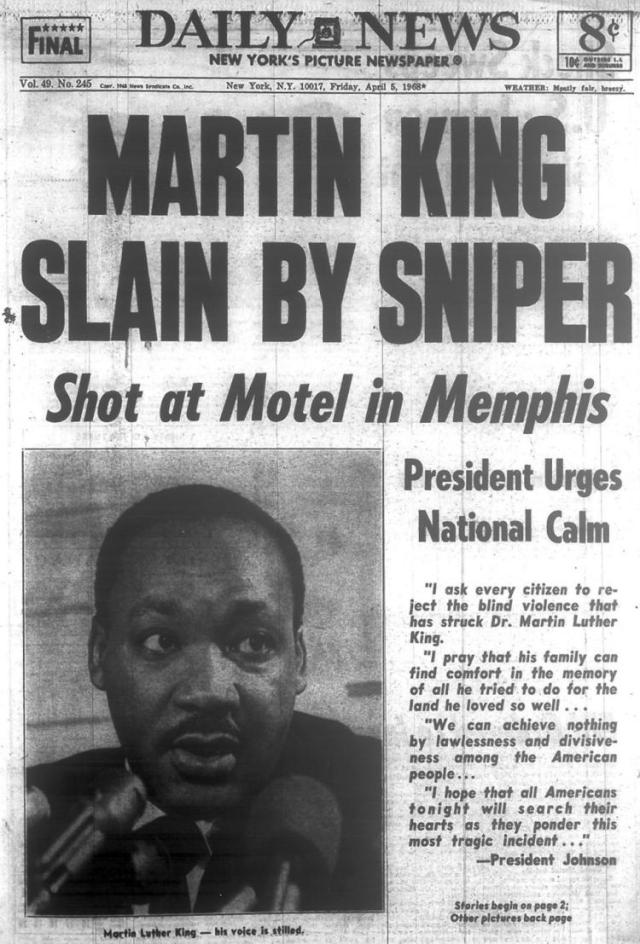 Martin Luther King Jr Dead Pictures Assassination of Marti...
